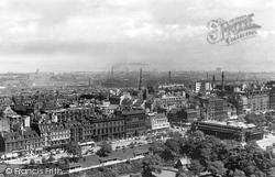 Edinburgh, Princes Street From The Castle c.1950