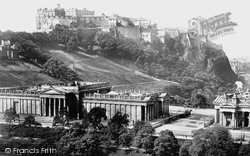 Edinburgh, The Castle And The National Gallery 1897