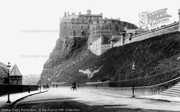 Photo of Edinburgh, the Castle from Johnston Terrace 1897