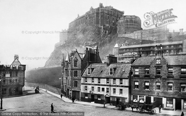 Photo of Edinburgh, the Castle from the Grassmarket 1897, ref. 39121