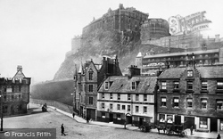Edinburgh, The Castle From The Grassmarket 1897