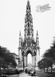 Edinburgh, The Scott Monument 1897