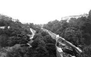 Edinburgh, view from Dean Bridge 1897