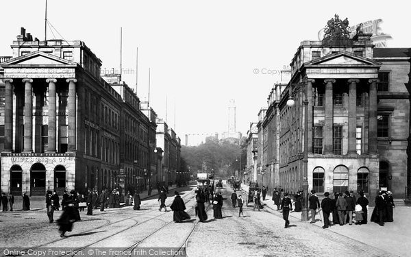 Edinburgh, Waterloo Place and the General Post Office 1897