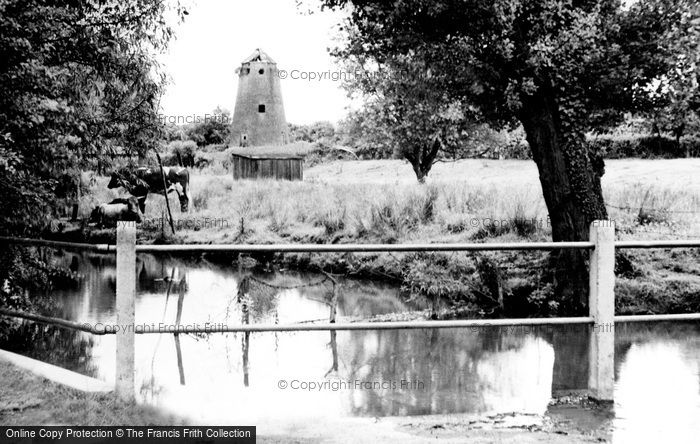 Edlesborough,the Ford and Mill c1965,Buckinghamshire
