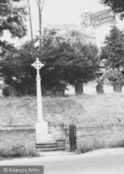 The War Memorial And St Mary's Church c.1965, Edlesborough