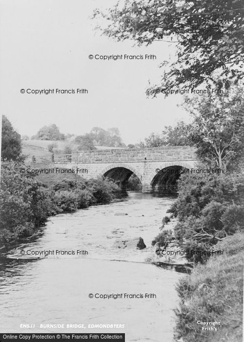 Photo of Edmundbyers, Burnside Bridge c.1955