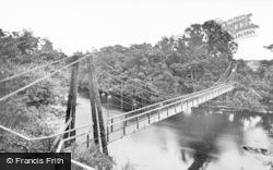 The Suspension Bridge c.1930, Edzell