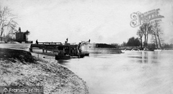 Egham, Bell Weir And Lock c.1890