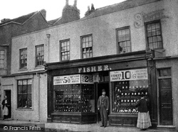 Egham, Fisher's Boot Shop c.1870