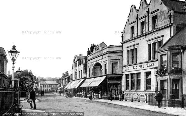 Egham, High Street, c.1900. Reproduced courtesy of The Francis Frith Collection