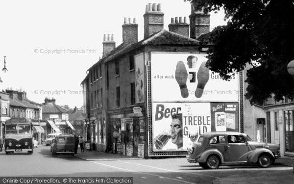 Photo of Egham, High Street c.1955