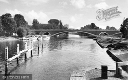Egham, Runnymede Bridge c.1965