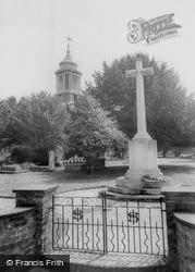 Egham, St John's Church And War Memorial c.1955