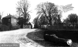 Egham, The Crossing, Pooley Green c.1907