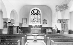 St Martin's Church Interior c.1960, Eglwysbach
