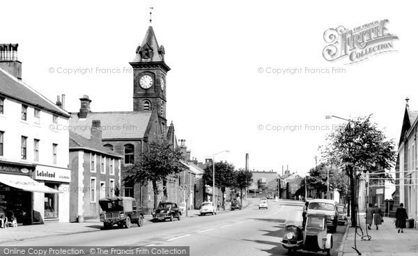 Egremont, Town Hall and Main Street 1963.  (Neg. E192010)  © Copyright The Francis Frith Collection 2008. http://www.francisfrith.com