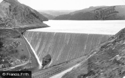 Elan Valley, Caban Coch Dam c.1955