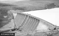 Elan Valley, Claerwen Dam c.1955