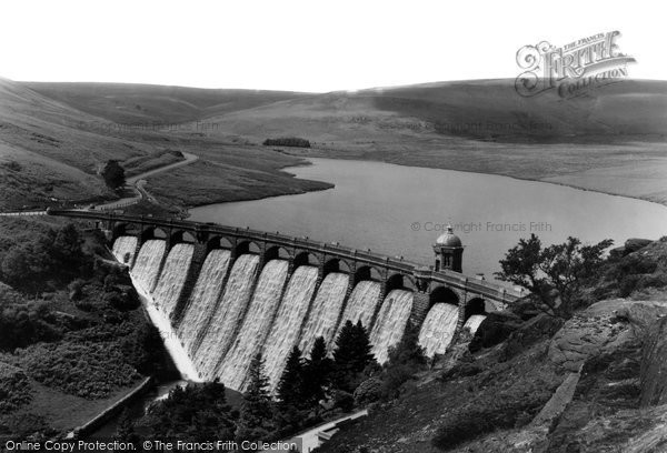 Photo of Elan Valley, Craig Goch Dam c.1955
