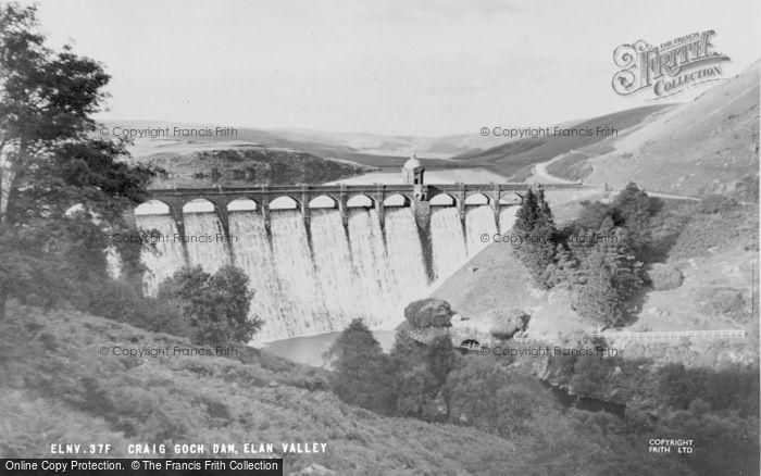 Photo of Elan Valley, Craig Goch Dam c.1960