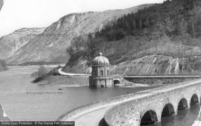 Photo of Elan Valley, Garreg Ddu Dam c.1955