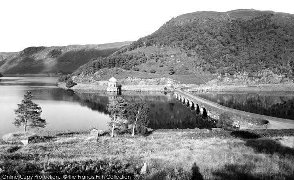 Photo of Elan Valley, Garreg Ddu Dam c.1960