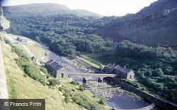 Elan Valley, Looking Downstream From Caban Coch Dam c.1985