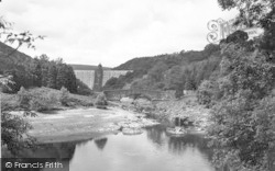 Elan Valley, Pen-Y-Garreg Dam And Bridge c.1955