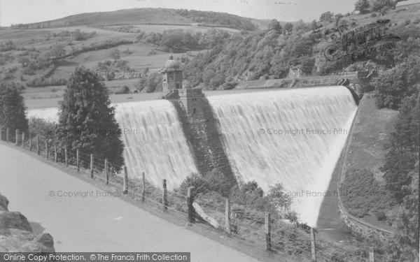 Photo of Elan Valley, Pen Y Garreg Dam c.1955