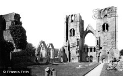 Elgin, The Cathedral, West Towers From Choir c.1890