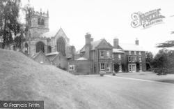 Ellesmere House And The Church c.1960, Ellesmere