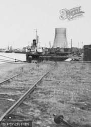Ellesmere Port, Cooling Tower, Manchester Ship Canal c.1955