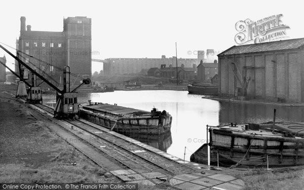 Ellesmere Port,Flour Mills and Dock c1955,Cheshire