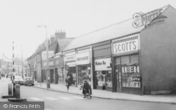 Ellesmere Port, Shops In Whtiby Road c.1960