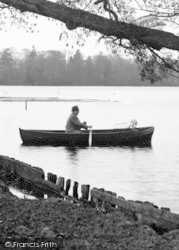 Rowing Boat On The Mere c.1950, Ellesmere