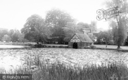 The Church From Mereside c.1955, Ellesmere