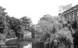 Eltham, Palace, The Moat c.1960