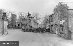 Post Office And All Saints Church c.1950, Elton