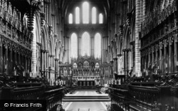 Ely, Cathedral, Choir And High Altar c.1955