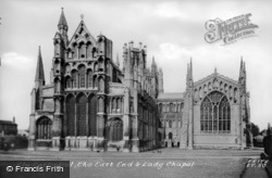 Cathedral, East End And Lady Chapel c.1960, Ely