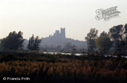 Cathedral, From North East Over The Great Ouse c.1995, Ely