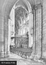 Ely, Cathedral, Interior c.1960