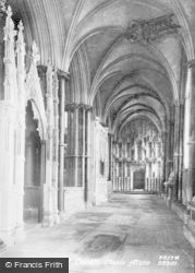 Ely, Cathedral, South Choir Aisle 1891