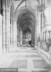 Ely, Cathedral, South Choir Aisle c.1955
