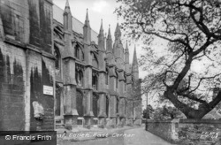 Cathedral, South East Corner c.1955, Ely