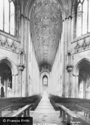 Ely, Cathedral, The Nave Looking West c.1955