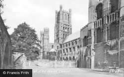 Ely, Cathedral, The West Tower c.1955