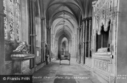 Cathedral, Tombs In The South Choir Ailsle c.1960, Ely