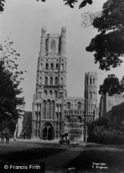 Ely, The Cathedral c.1955